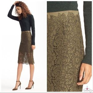 DVF Glimmer Lace Pencil Skirt NWT Size 6